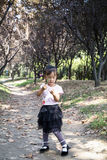 Chinese woman dancing in the woods 04. Chinese woman dancing in the park's little woods Stock Photography