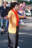 A Chinese woman doing Tai Chi, Royalty Free Stock Images