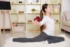 Chinese woman doing yoga Stock Image