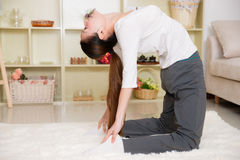 Chinese woman doing yoga Royalty Free Stock Photos