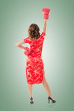 Chinese woman dress traditional cheongsam Royalty Free Stock Photography