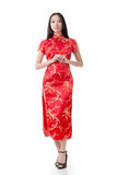 Chinese woman dress traditional cheongsam Stock Images