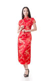 Chinese woman dress traditional cheongsam Stock Photography