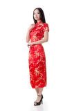 Chinese woman dress traditional cheongsam Royalty Free Stock Photo
