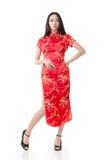Chinese woman dress traditional cheongsam Stock Image