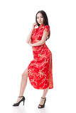 Chinese woman dress traditional cheongsam Stock Image