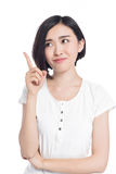 Chinese woman facial expressions Royalty Free Stock Image
