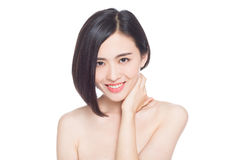Chinese woman facial expressions Royalty Free Stock Photography