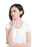 Chinese woman facial expressions Stock Images