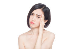 Chinese woman facial expressions Stock Photos