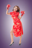 Chinese woman fight Stock Photos