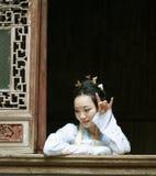 Chinese woman in Hanfu dress enjoy free time Stock Photo