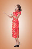 Chinese woman introducing Stock Photos