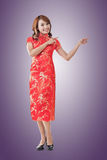 Chinese woman introducing Stock Images