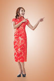 Chinese woman introducing Royalty Free Stock Photography
