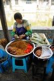 Chinese woman making Zongzi Stock Photo