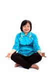 Chinese Woman Meditates Stock Photos
