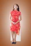 Chinese woman at new year Royalty Free Stock Photos