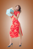 Chinese woman at new year Stock Photography