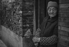 Chinese woman. From old chinese postal village Stock Photos
