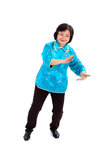 Chinese Woman performs Tai Chi Royalty Free Stock Images