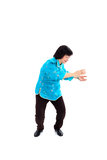 Chinese Woman performs Tai Chi Stock Images