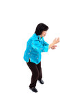 Chinese Woman performs Tai Chi Royalty Free Stock Photography