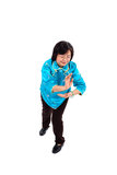 Chinese Woman performs Tai Chi Royalty Free Stock Photos