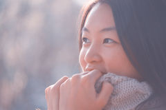 Chinese woman portrait Royalty Free Stock Photography