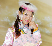 Chinese Woman Portrait Royalty Free Stock Photos