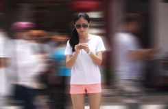 Chinese woman praying Stock Images