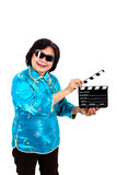 Chinese Woman ready for film  shooting Stock Images