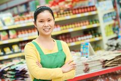 Chinese woman shopping food royalty free stock photo