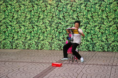 Chinese woman singing in Hong Kong Royalty Free Stock Photos