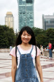 Chinese woman smiling in peoples Square Stock Photos