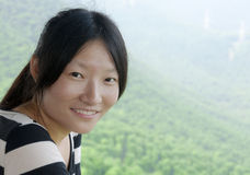 Chinese woman smiling royalty free stock image