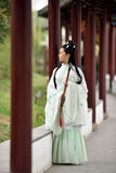 Chinese woman in traditional costume Stock Photos