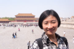 Chinese woman traveling in CHina Stock Photography