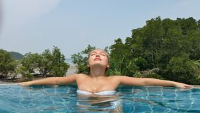 Chinese woman on vacation in Thailand Stock Image