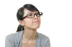 Chinese woman wear glass Stock Image