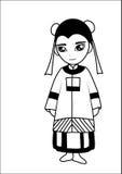 Chinese women  cartoon Stock Photo