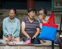 Chinese women gossip royalty free stock photos