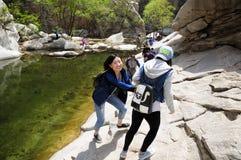 Chinese women having fun Royalty Free Stock Photography