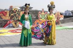 Chinese women kite festival Stock Images