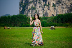 Chinese women. Modern Chinese woman also pay attention to the style to show their own style Stock Images