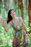 Chinese women. Modern Chinese woman also pay attention to the style to show their own style Stock Photos