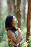 Chinese women. Modern Chinese woman also pay attention to the style to show their own style Stock Photo
