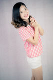 Chinese women. Modern Chinese woman also pay attention to the style to show their own style Stock Photography