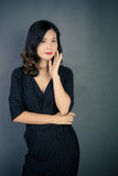 Chinese women. Modern Chinese woman also pay attention to the style to show their own style Royalty Free Stock Photo