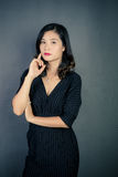 Chinese women. Modern Chinese woman also pay attention to the style to show their own style Royalty Free Stock Image